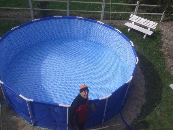 Instalation de la piscine