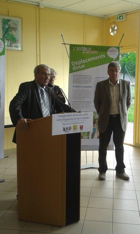 inauguration de la voie verte Fagnieres/St Gibrien