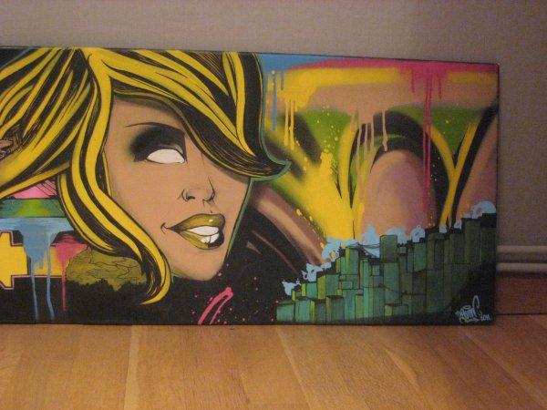 toile graffiti