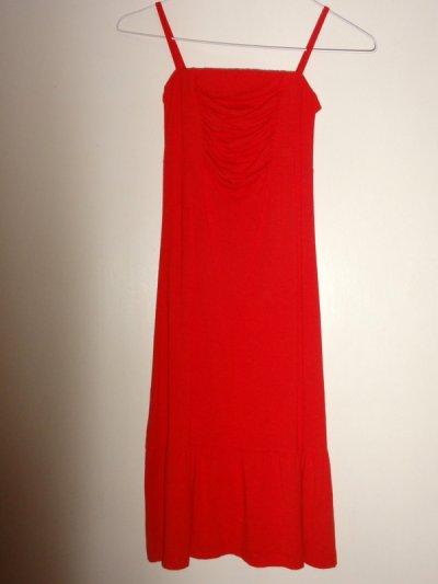 Robe H&M rouge éclatant