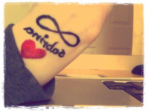 L'inffiiniiis ... Mon Nom Sabrina Et Un Coeur <3