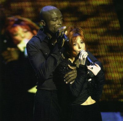 Mylène Farmer et Seal au NRJ MUSIC AWARDS 2002