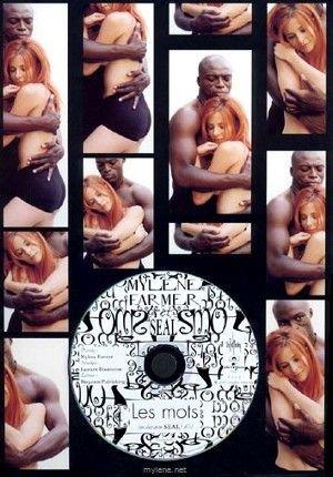 """Voici le collector - """"Les mots"""" contenant un fourreau en carton troué contenant une planche cartonnée imprimée de photos de Mylène et Seal par Isabel Snyder et sur laquelle est incrusté le CD promo monotitre."""