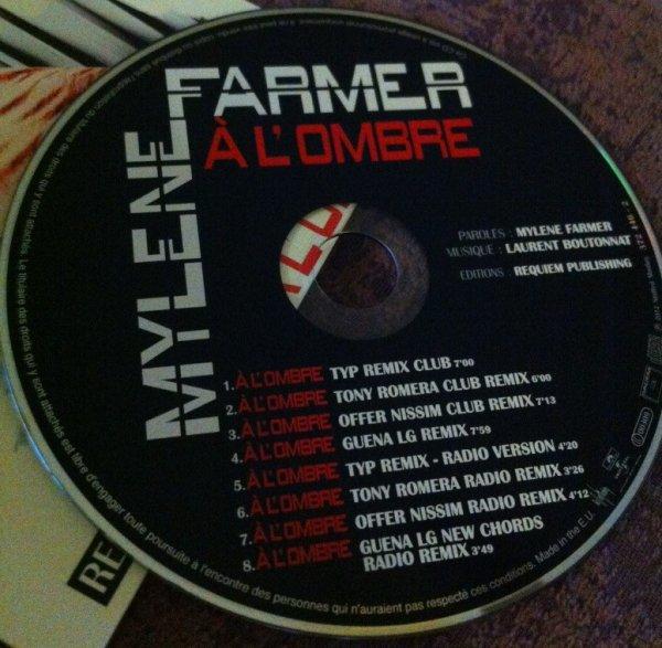 """Voici les visuels du CD Promo Remixes """" À l'ombre """" + infos remixes"""
