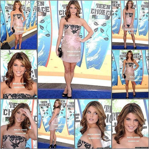 • EVENT - Le 8/08/2010 Ash' était avec Teen Choice Awards aux Gibson Amphiteatre