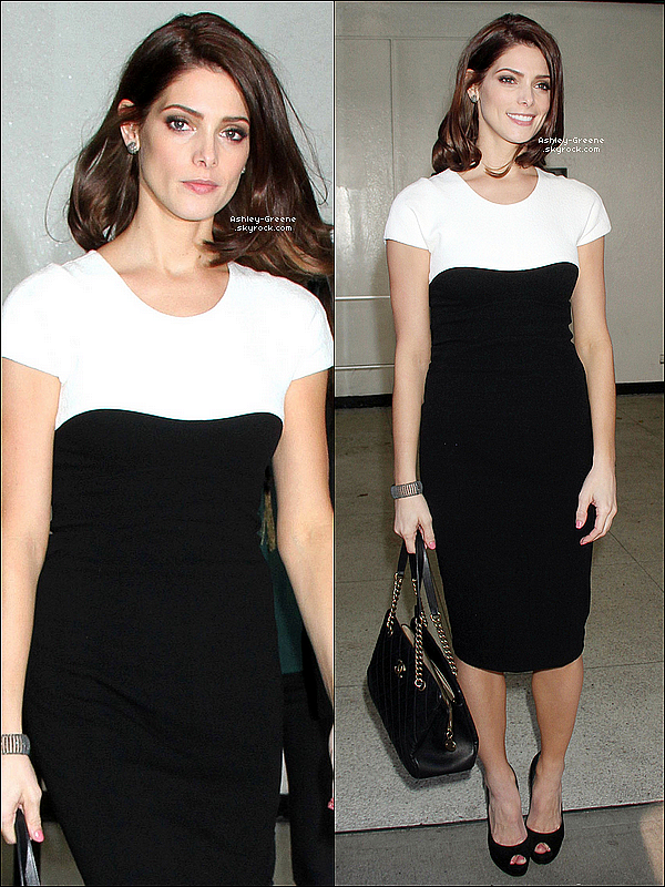 • CANDIDS - Le 14/11/12 Ashley Michele Greene s'est rendue dans les studios de CBS à New-York.