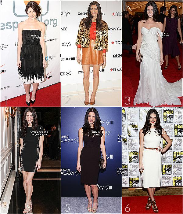 . Parmi toutes les tenues portées par Ashley Greene en 2012 laquelle préfères-tu ? Elit, la plus belle tenue, Ashley est passée par des TOP, des BOF mais aussi pas mal de FLOP. Laquelle te plait le plus ? .