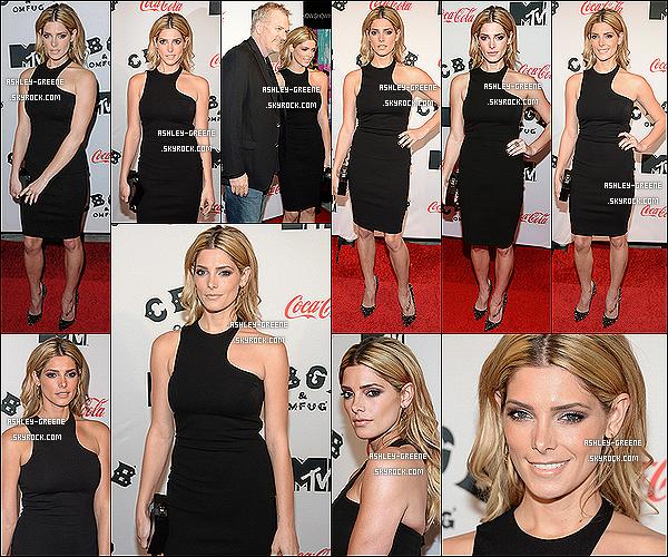 • EVENT - Le 08.10.13 : Ashley toujours en promotion de son nouveau film « CBGB » pour l'avant première a New York.