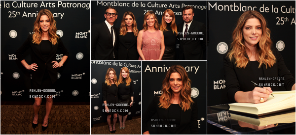 • EVENT - Le 6/06/16, Ashley était au 25th annual Montblanc Culture Arts Patronage Award
