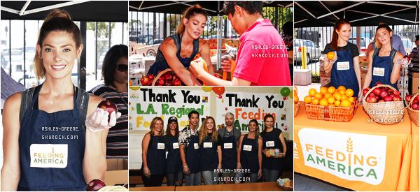 • EVENT - Le 23/06/16, Ashley a participé au Feeding America & LA Regional Food Bank Team Up For Put The Heat On Hunger Celebrity Volunteer Event