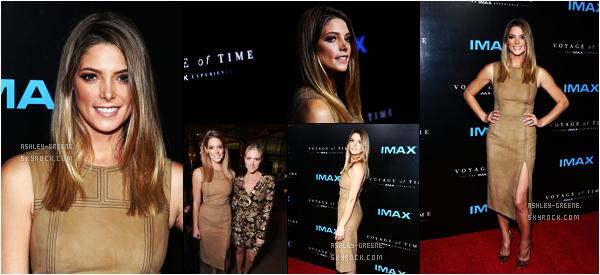 """• EVENT - Le 28/09/16, Ashley était à l'avant première de """"Voyage dans le temps"""": L'expérience de l'IMAX"""
