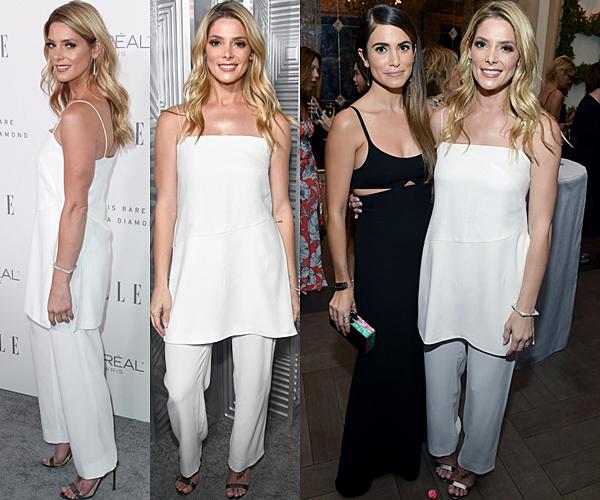 16.10.2017 - Ashley a assisté à la 24e célébration annuelle des femmes à Hollywood de ELLE à Los Angeles. J'aime beaucoup la tenue de Ashley, je trouve que sa lui va particulièrement bien le blanc. Elle était en compagnie de Nikki Reed.