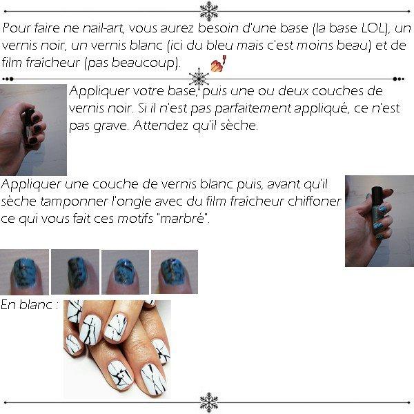 Nail-art marbré