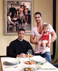 comme chaque année, le calendrier 2014 des prètres orthodoxe rend hommage à la vie gay et mariage