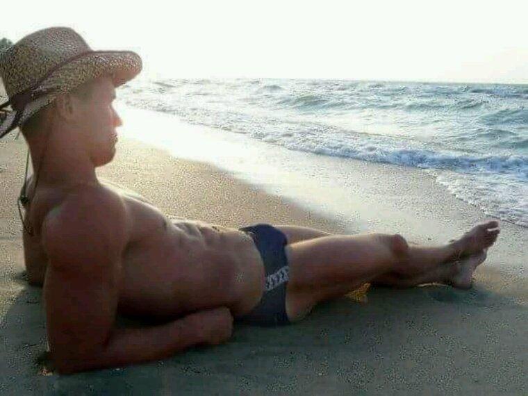 Sur la plage ensoleillé