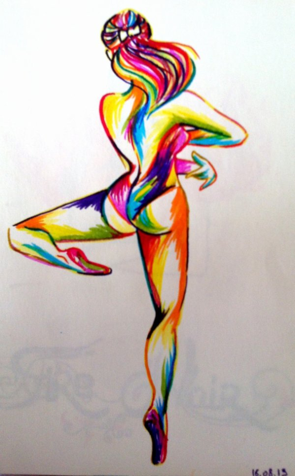 Colored dancer