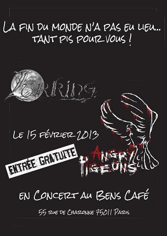 Concert de mon groupe Lurking... et des Angry Pigeons à Paris vendredi prochain !
