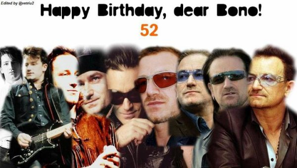 Happy Birthday Bono =D