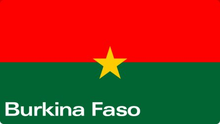 this my armory's COUNTRY, always represents the BURKINA FASO
