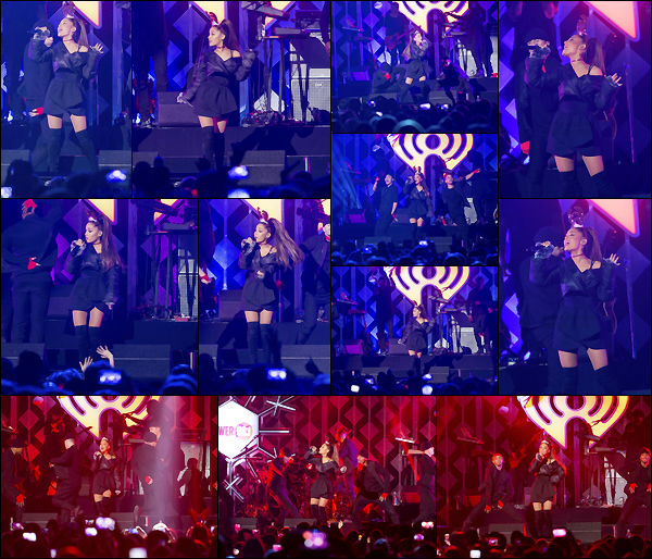 """- """"•-16/12/16-─"""": Ariana Grande était présente : « Power 96.1's Jingle Ball 2016 » dans le Philips Arena d'Atlanta. Rien à redire elle est très jolie, souriante un Top pour Ari, par contre les tenues des danseurs ne sont pas agencées avec celle d'Ariana... -"""