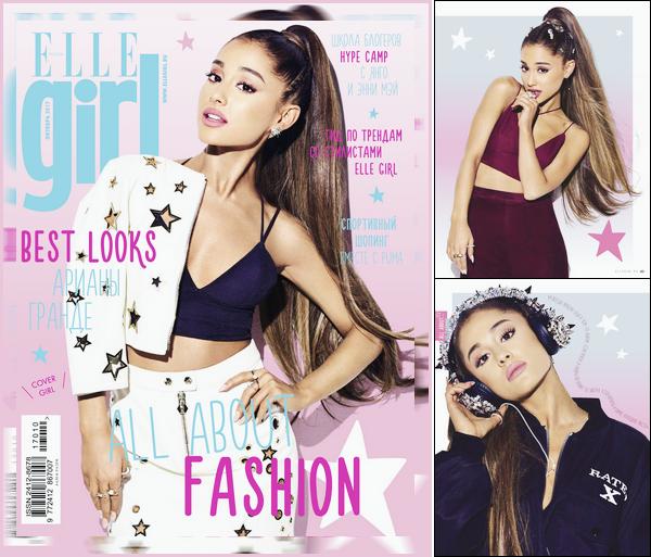 •DécouvrezAriana Grandeen couverture du magazine« ELLE Girl »en Russie, novembre '17.