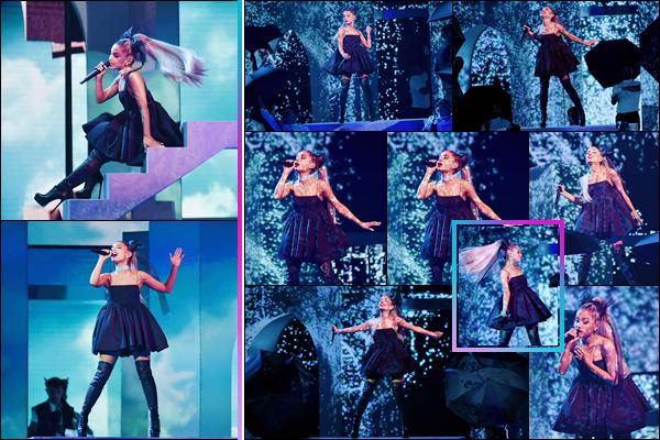 - ''•-20/05/18-' : Ariana Grande ouvrait la cérémonie des « Billboard Music Awards 2018 » ayant lieu à Las Vegas. Ariana Grande a eu l'honneur d'ouvrir le bal des performances de cette soirée de remise de prix, avec son single « No Tears Left To Cry ». -