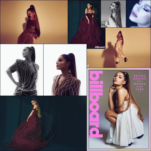 - ● Ariana Grande fait la couverture du célèbre magazine « Billboard » réalisée par Miller Mobley. -