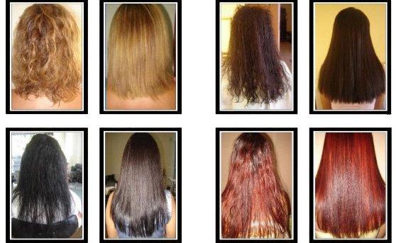 Cheveux apres lissage keratine