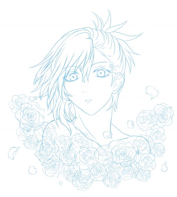Les roses m'ont donné un mal de dos. Au moins je m'entraîne pour pouvoir faire un fanart de Baraou no Souretsu !