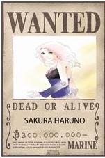 SAKURA HARUNO DANS LE MANDE ONE PIECE 2