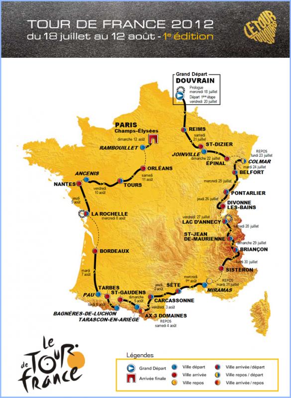 Affiche Tour de France 2012