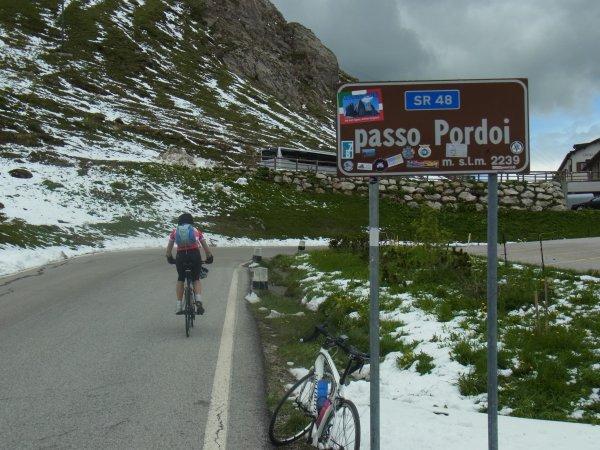 Laurence dans les Dolomites