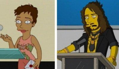Halle Berry et Russel Brand dans les Simpson