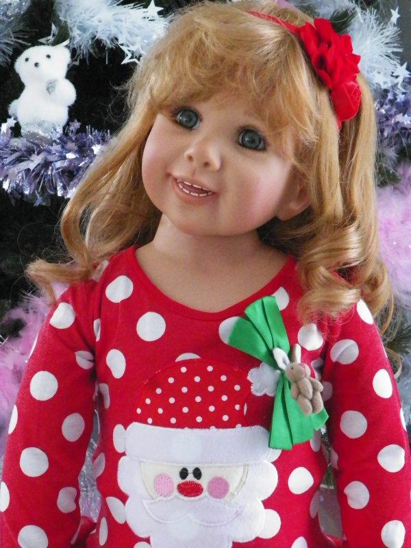 Cindy attend le Père Noël......