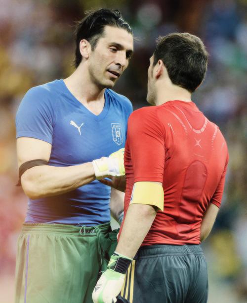 Gianluigi Buffon & Iker Casillas