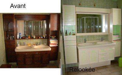 Salle de bain avant apr s amphora artisan meubles peints - Relooking meuble avant apres ...