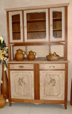 buffet 2 corps ch ne relook amphora artisan meubles peints relooking. Black Bedroom Furniture Sets. Home Design Ideas
