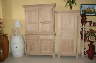 bonneti re neuve brute en ch ne massif amphora artisan meubles peints relooking. Black Bedroom Furniture Sets. Home Design Ideas