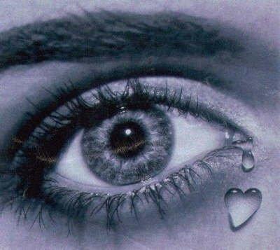 une larme dans mes yeux