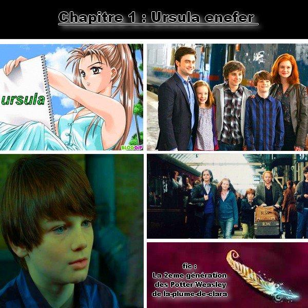 fic : la 2eme génération des Potter/weasley, chapitre 1 : Ursula Enefer