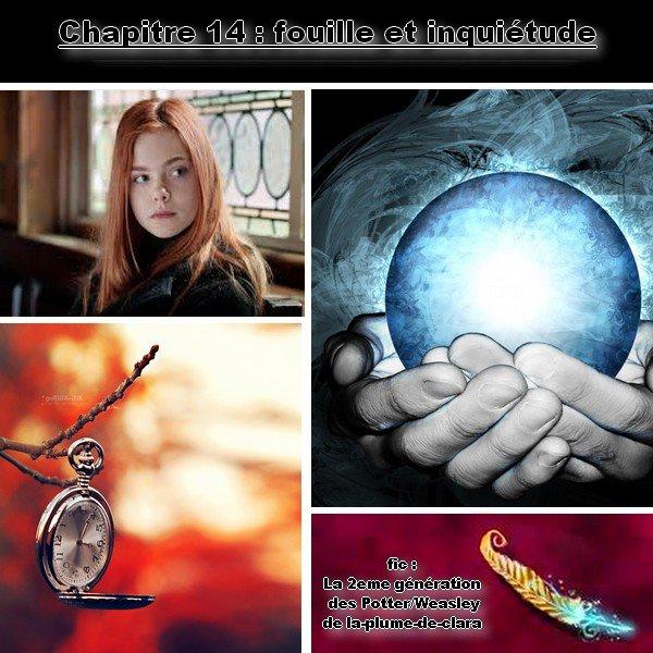 fic : la 2eme génération des Potter/weasley, Chapitre 14 : fouille et inquiétude :=)