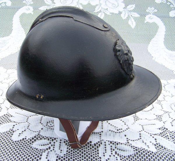 Belgian Model 31 Adrian helmet re-used by Gendarmerie