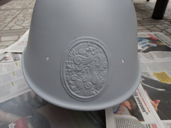 Dutch M34 Helmet Restoration part 2