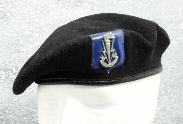 "Belgian Beret ""Transmissietroepen"" Black"