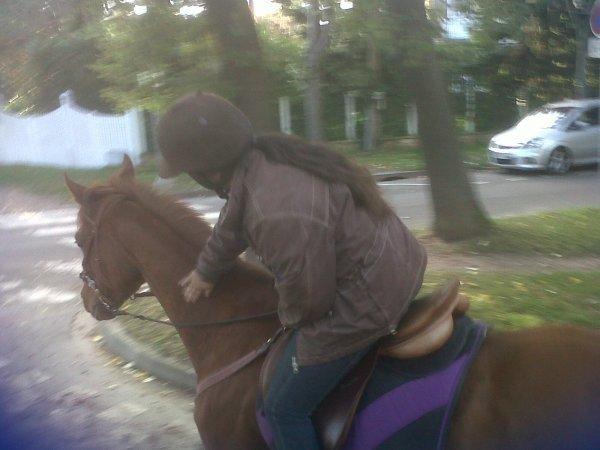 moi avec mon cheval
