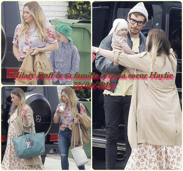 Hilary Duff & sa famille avec sa soeur Haylie