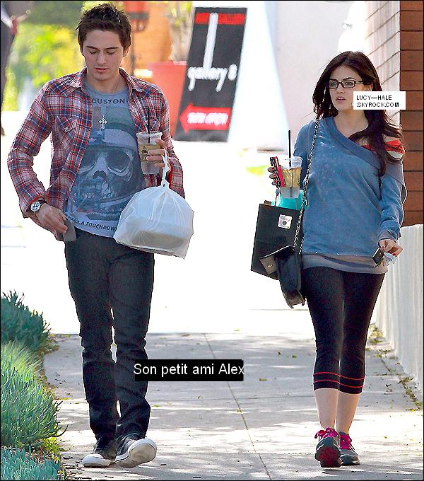 Lucy et son petit ami Alex .