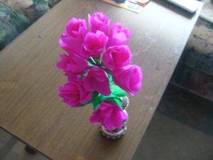 roses en papier