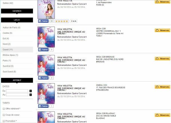 News de début septembre + exclu Violetta Live !!
