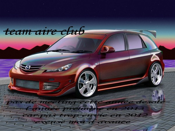 pas de meeting 2012 pour le team aire club
